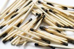 Burned matches Stock Image