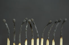 Burned Matches Royalty Free Stock Images