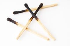 Burned matches Stock Photo
