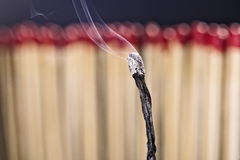 Burned matchstick Stock Photography