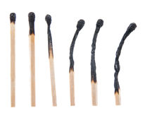 Burned Matchsticks Stock Photos