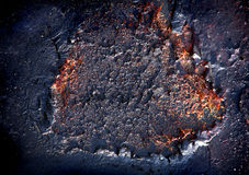 Burned metallic texture Stock Photos