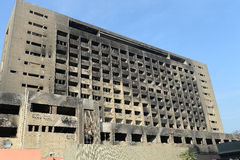 Burned NDP building in Cairo Stock Photography