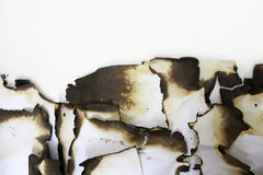Burned old paper. Royalty Free Stock Image