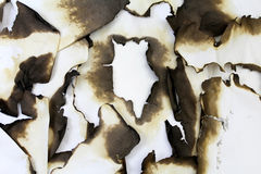Burned old paper. Royalty Free Stock Images