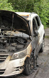 Burned-out car Stock Image
