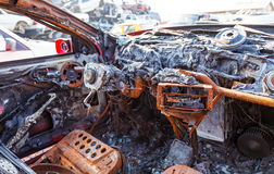 Burned out car Royalty Free Stock Photo