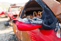 Burned out car Royalty Free Stock Photos