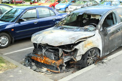 Burned out car Stock Photography