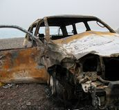 Burned out Car Wreck Royalty Free Stock Photography
