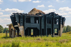Burned-out house Stock Image