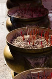 Burned Out Joss Sticks. Royalty Free Stock Photography