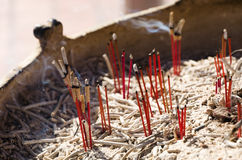 Burned Out Joss Sticks. Royalty Free Stock Photos