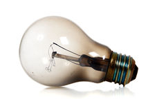 Burned Out Light Bulb. On a white background stock photography