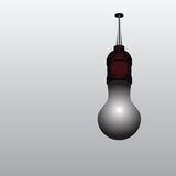 Burned out light bulb. On the ceiling. Vector illustration Stock Photos