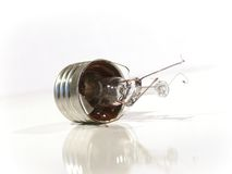 The burned-out light bulb. Lamp. Royalty Free Stock Images