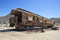 Burned out railroad car Royalty Free Stock Images