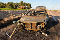Burned Out Vehicle Stock Photos