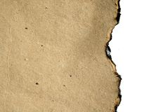 Burned paper Royalty Free Stock Photography
