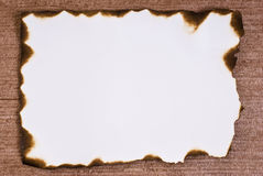 Burned paper Royalty Free Stock Image