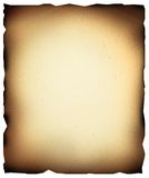 Burned paper. Old burned paper with clipping path Royalty Free Stock Photos