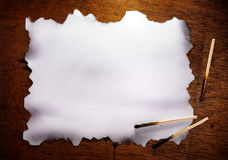 Burned Paper Royalty Free Stock Images