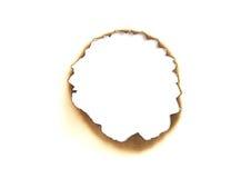 Burned paper hole Royalty Free Stock Photo
