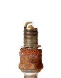 Burned spark plug Stock Image