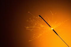 Burned sparkler on New Years Eve Royalty Free Stock Images