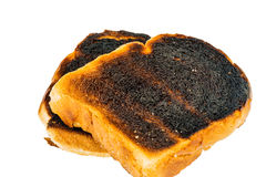 Burned toast bread slices royalty free stock photos