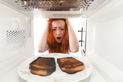 Burned toasts Stock Photos