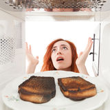 Burned toasts Stock Images