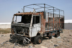 Burned truck Royalty Free Stock Images