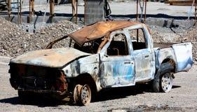 Burned vehicle Stock Photo