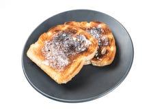 Burned whole grain toast Royalty Free Stock Photo
