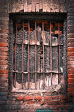 Burned window Stock Photo