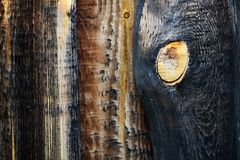 Burned wood background Stock Images