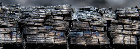 Burned Wood Close-Up Royalty Free Stock Photography