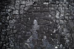 Burned wooden wall Royalty Free Stock Image