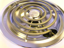 Burner 2. Shiny new burner on a new electric stove Royalty Free Stock Images