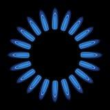 Burner. Gas flame cooker blue Royalty Free Stock Images