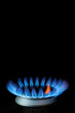 Burner blue and red gas flame Royalty Free Stock Photography