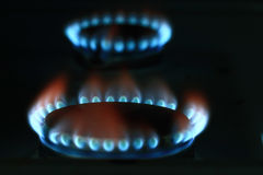 Burner gas cooker in dusk Stock Photography