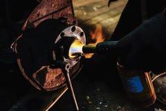 Burner gas hub Royalty Free Stock Photos