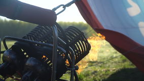 The burner for Hot Air Balloon stock footage