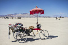 Burner's Tricycle at Burning Man 2015 Royalty Free Stock Photos