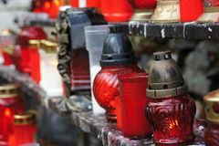 Burners and candles in Marianka - pilgrimage site in Slovakia Stock Photos