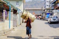 Burnese ludzie w Myanmar Zdjęcie Royalty Free