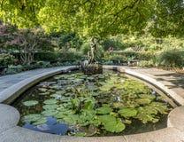 Burnett Fountain im Sommer stockfotografie