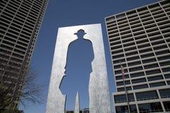 Burnett Park in im Stadtzentrum gelegenem Fort Worth Lizenzfreie Stockfotos